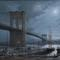 MOONLIGHT ~ NEW YORK By Dusan Kadlec Oil on canvas 28 By 38