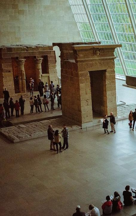 Temple of Dendur in The Sackler Wing of the Metropolitan Museum of Art, NY.