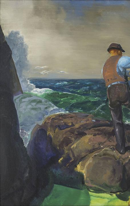 George Bellows (1882–1925) The Fisherman, 1917.  Oil on canvas 30 1/8 x 44 in.  Amon Carter Museum of American Art, Fort Worth, Texas 2016.9