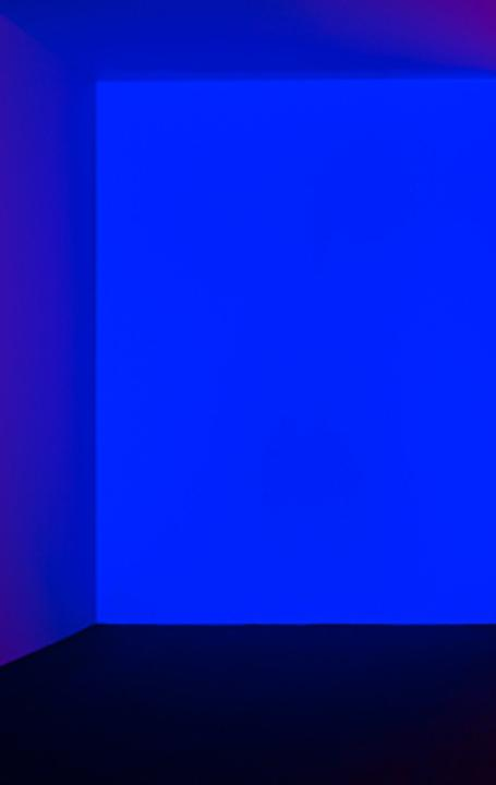 James Turrell, Orca Blue-Red,1969, Light installation, Dimensions variable.  Courtesy Levy Gorvy Gallery.