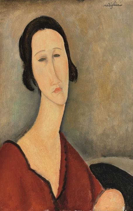 Madame Hanka Zborowska (1917) by Amedeo Modigliani was the sale's top lot at 8.3 million pounds.