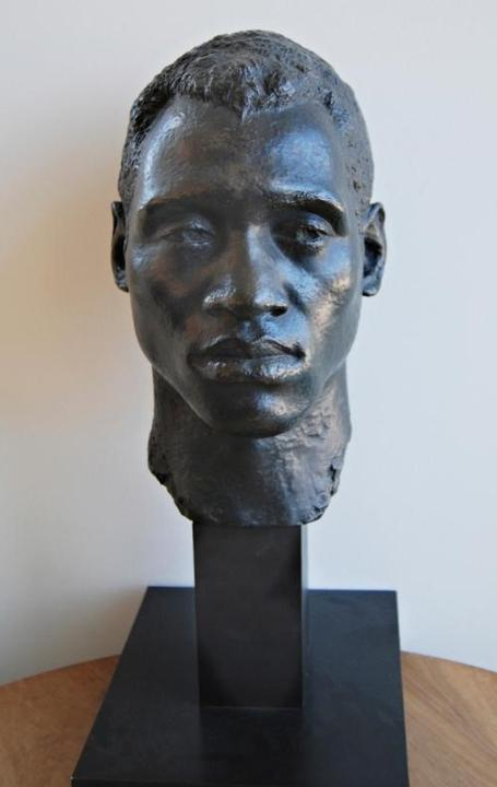 Bust of Paul Robeson loaned by Princeton Public Library
