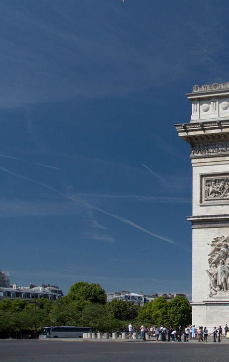 The Arc de Triomphe from the Champs-Élysées