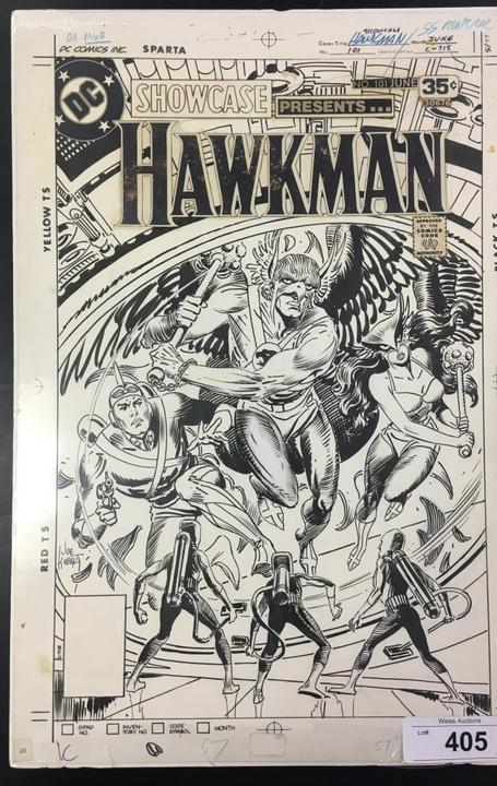 Original cover art for Hawkman Showcase #101 (June 1978), by Joe Kubert, pulled directly from Mr.  Kubert's estate.