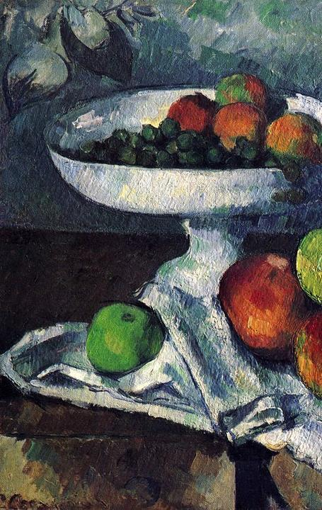 Paul Cézanne's Still Life with Fruit Dish (1879–80), a fractional gift from Rockefeller to MoMA.