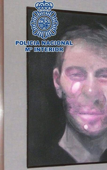 A photo released by Spanish police of one of the five Francis Bacon works stolen last July.