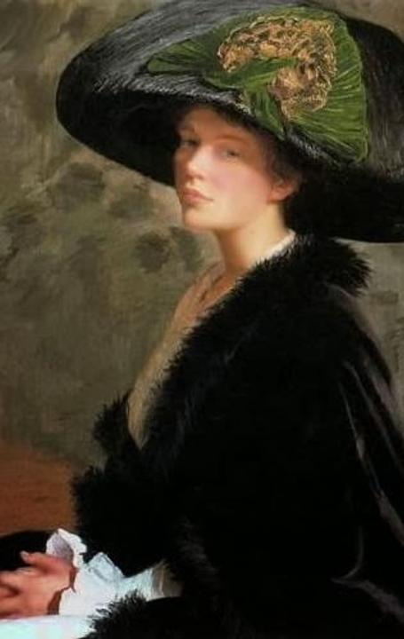 Lilla Cabot Perry (1848–1933), The Green Hat, 1913, oil on canvas.  Terra Foundation for American Art, Daniel J.  Terra Collection, 1987.25.  Photography ©Terra Foundation for American Art, Chicago.