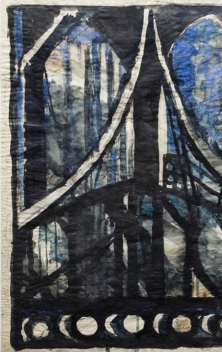 "Joseph Stella's 1922 painting ""Study of the Brooklyn Bridge"""