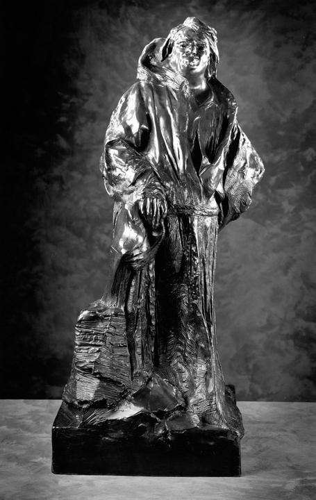 Balzac in Dominican Robe, 1893; cast 1981, Bronze, 41 3/4 x 20 1/8 x 20 inches, Courtesy of the Iris & B.  Gerald Cantor Foundation
