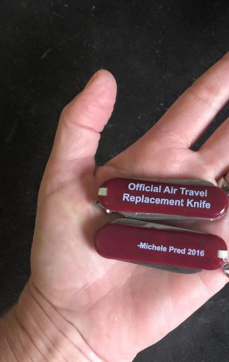 """Official Air Travel Replacement Knife"" by Michele Pred"