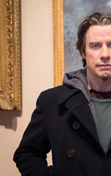 "John Travolta shot scenes for his new film ""The Forger"" at the Museum of Fine Arts, Boston"