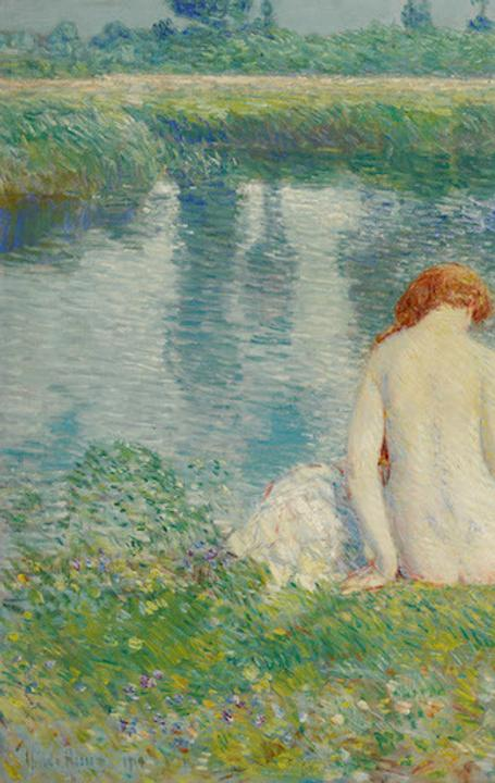 Childe Hassam, Bathers and Cloud Reflections, 1914.