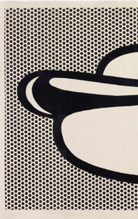 Roy Lichtenstein's Hot Dog, of 1964.