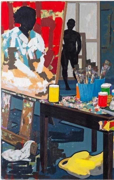 Kerry James Marshall (American, b.  1955).  Untitled (Studio), 2014.  Acrylic on PVC panels.  The Metropolitan Museum of Art, New York, Purchase, The Jacques and Natasha Gelman Foundation Gift, Acquisitions Fund and The Metropolitan Museum of Art Multicultural Audience Development Initiative Gift, 2015 (2015.366)
