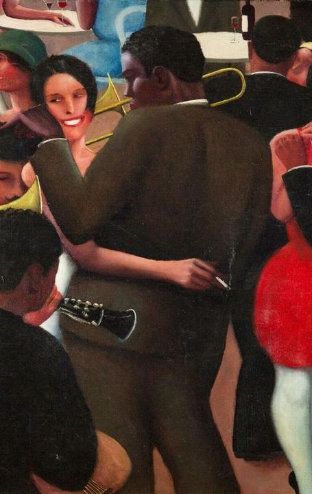 Blues, 1929.  Archibald J.  Motley Jr.  (American, 1891–1981).  Oil on canvas; 91.4 x 106.7 cm.  Collection of Mara Motley, MD, and Valerie Gerrard Browne.  © Valerie Gerrard Browne / Chicago History Museum / Bridgeman Images