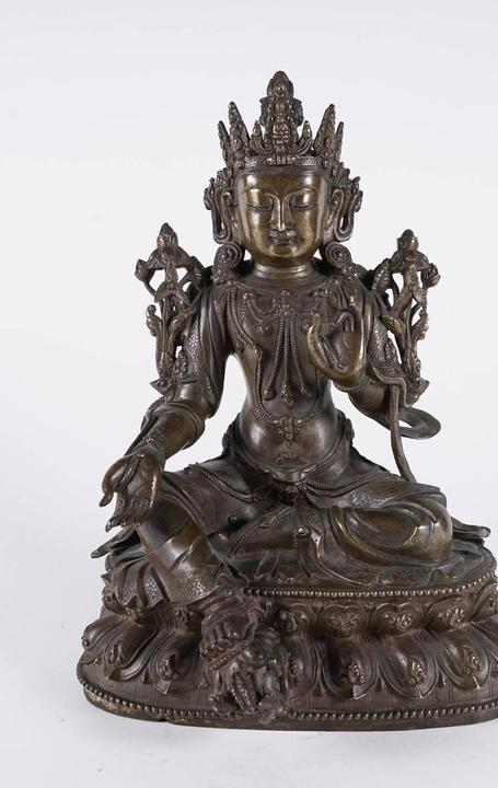 Parcel Gilt Bronze Figure of Tara, Ming/Qing Dynasty