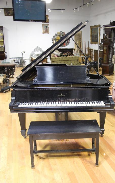 This Steinway & Sons Model D Concert Grand piano ($15/25,000) will cross the block.
