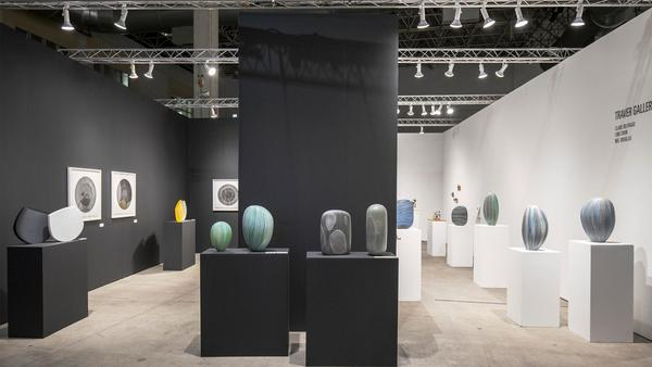 SOFA Chicago 2019 | Traver Gallery booth, featuring work by Clare Belfrage, Ling Chun, and Mel Douglas.