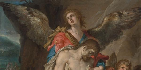 """Bartholomeus Spranger's """"Body of Christ Supported by Angels"""""""