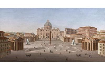 St.  Peter's Square Micromosaic, a relic of the European Grand Tour.
