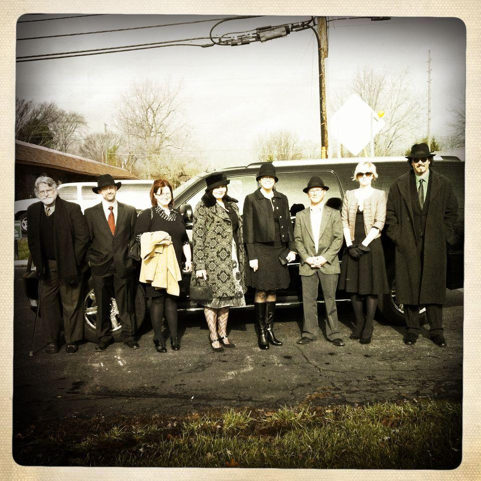 The Antique Helper staff, outside of Antique Helper Auctions, Indianapolis.  November, 2011