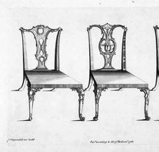 Thomas Chippendale, The Gentleman and Cabinet-Maker's Director, 1754.  Plate XII.