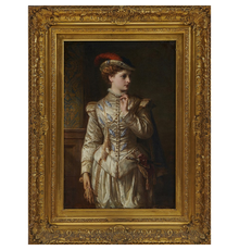 LOT 440: Thomas Francis Dicksee, Lily Langtry as Viola in 12th Night, 1866.  Estimate $10,000-20,000