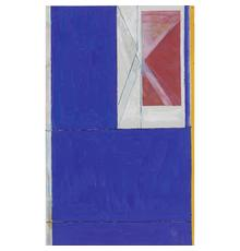 LOT 54: Richard Diebenkorn.  Blue from The Ocean Park Series, 1984.  Estimate $20,000-30,000