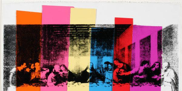 Andy Warhol (American, 1928-1987) The Last Supper, 1986 Screen print and colored graphic art paper collage on HMP paper Overall: 23 1/2 × 31 3/4 in.  (59.7 × 80.6 cm.) Framed: 31 × 41 in.  (78.7 × 104.1 cm.) The Andy Warhol Museum, Pittsburgh; Founding Collection, Contribution The Andy Warhol Foundation for the Visual Arts, Inc.  1998.1.2126