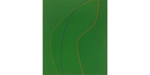 Virginia Jaramillo, Untitled, 1971.  Acrylic on canvas, 84 1/8 × 71 in.  (213.7 × 180.3 cm).  The Menil Collection, Houston, purchased with funds provided by Suzanne Deal Booth.  Courtesy of the Artist.