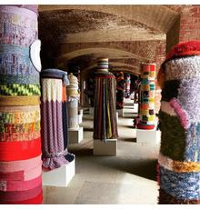 Immigrant Yarn Project Installed at Fort Point National Historic Site in San Francisco, 2019.