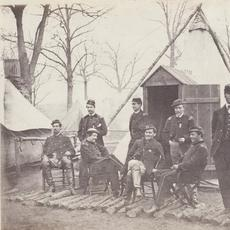"Studio of Mathew Brady.  Mathew Brady, Sixth Corps Staff Officers, ""Winter of 1864,"" 1864.  Salted paper print from a glass plate negative.  Courtesy of the Wilson Centre for Photography."