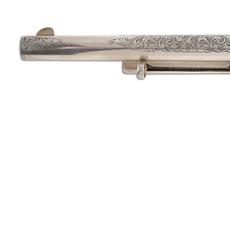Engraved Colt single-action .45-caliber Army Revolver, made in 1874, second year of the model's production.  Estimate $5,000-$7,000