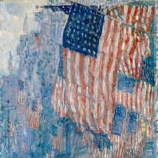 Childe Hassam, Avenue in the Rain, 1917.  The White House Historical Assoc., Gift of T.  M.  Evans, 1963.