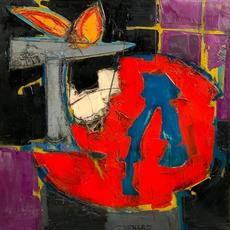Oil on canvas Still Life with Sculpture on Table by Claude Venard (French, 1913-1999), boldly executed with heavy impasto, signed lower center (est.  $3,000-$5,000).