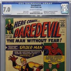 Copy of Marvel Comics Daredevil #1 (April 1964), featuring the origin and first appearance of Daredevil and the first appearance of Karen Page and Foggy Nelson (est.  $3,000-$4,000).