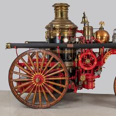 Steam Fire Engine #496 was manufactured in 1904 by American LaFrance in Elmira, New York.  It was supplied new to Greensboro, North Carolina and put into service fighting fires throughout the city.
