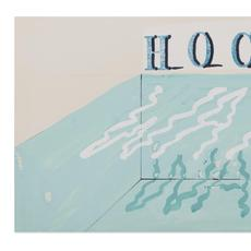 Lot 51.  David Hockney, Water, 1989, gouache, 9 x 18 in., $15,000-20,000