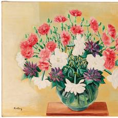 Moise Kisling (Polish/French, 1891-1953), Fleurs, 1938, 19 3/4 x 25 3/4 inches.  Est.  $60,000-90,000.  Lot 22.