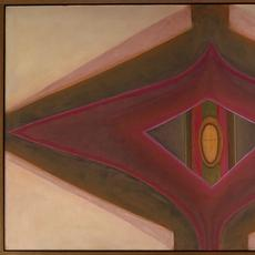 Ida Kohlmeyer, Cloistered, 1969, oil on canvas, 34 1/2 x 57 inches.