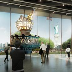 rendering for the Statue of Liberty Museum