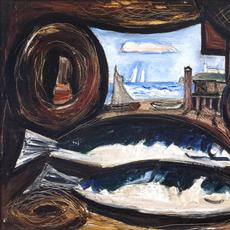 Marsden Hartley (1877-1943) New England Sea View- Fish House, 1934.  Oil on academy board, 18 x 24 inches.
