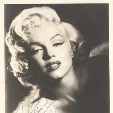"Signed and inscribed portrait photograph of Marilyn Monroe, inscribed to ""Bob"" (likely Robert Mitchum, Monroe's co-star in the 1953 film River of No Return) (est.  $12,000-$14,000)."