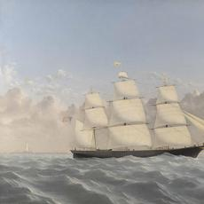 William Bradford's portrait of the clipper ship Golden West, part of Eldred's annual Marine Sale