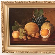 Austin C.  Wooster (American 1838 – 1913): Nature's Bounty - Oil on canvas, 11.5 x 14.75 inches / Signed lower right