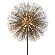 Harry Bertoia, Gilt Bronze, Brass and Steel, Dandelion Sculpture, United States, 1960s.  H 82 in.  x Dm 42 in.  Exhibitor: Lost City Arts