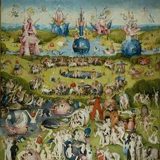 Center panel of Hieronymus Bosch, The Garden of Earthly Delights, oil on oak panels, 205.5 cm × 384.9 cm (81 in × 152 in), Museo del Prado, Madrid