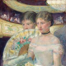 "Shown in the 2014 exhibition ""Degas/Cassatt"" at the National Gallery of Art, Mary Cassatt, The Loge, c.  1878–1880, oil on canvas."