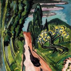 Ernst Ludwig Kirchner, Taunus Road (Autostrasse im Taunus), 1916.  Collection of Virginia Museum of Fine Arts