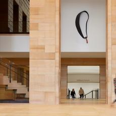 Lenfest Hall, facing East toward the Forum (below), the Great Stair Hall (above) - On view- Generation, 1988, Martin Puryear - Steve Hall © Hall + Merrick Photographers, 2021